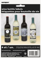 Happy New Year Wine Bottle Labels